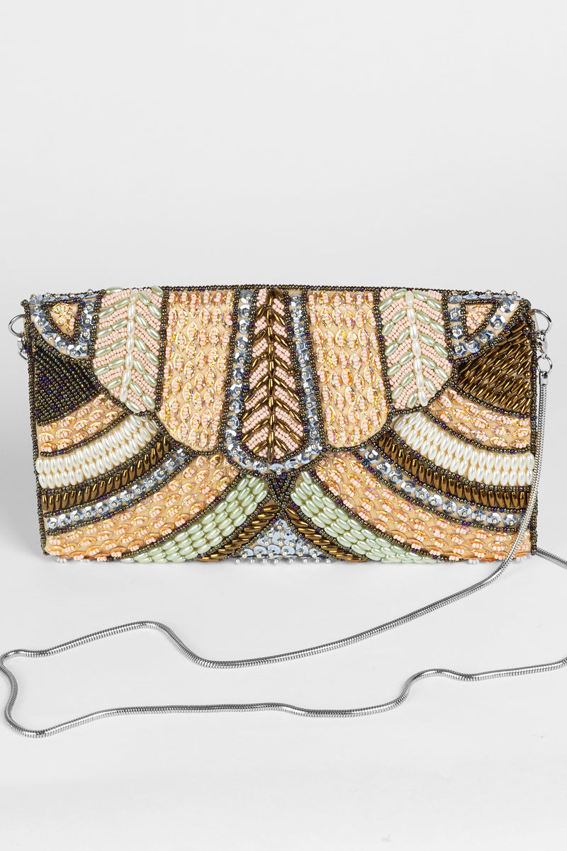 RD Beaded Scallop Clutch
