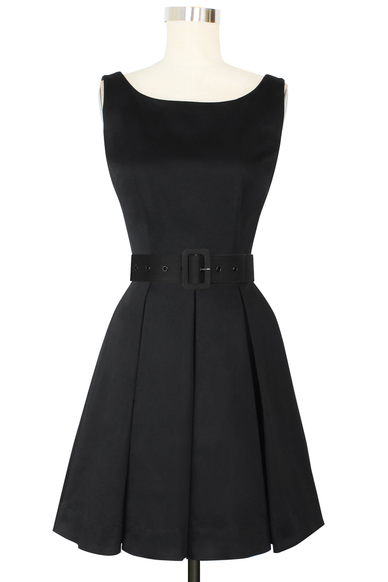 Audrey Mini Dress - Stretch Cotton Satin