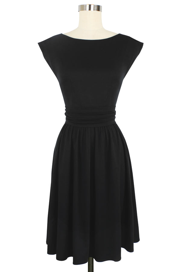 Cassandra Dress - Black Rayon Stretch