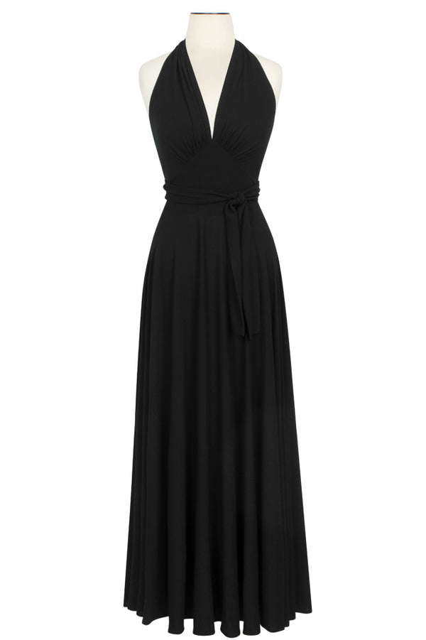 Helena Dress  - Black Rayon Stretch