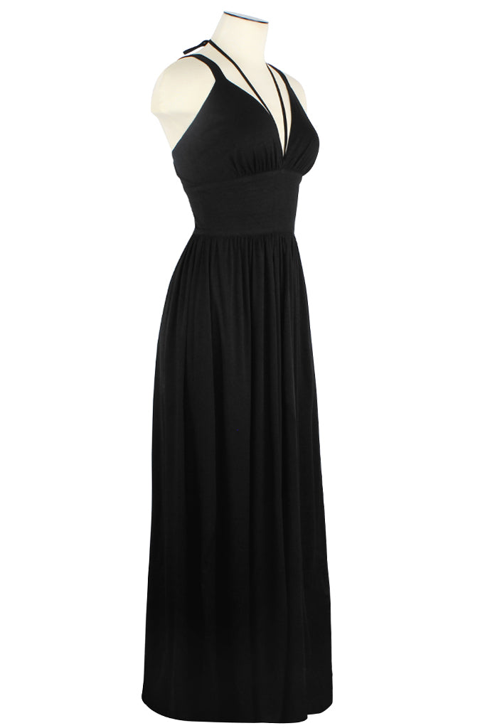 Minda Dress - Black Rayon Stretch