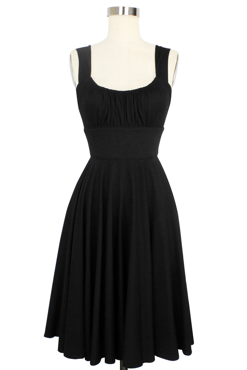 Norma Jean Dress - Black Rayon Stretch