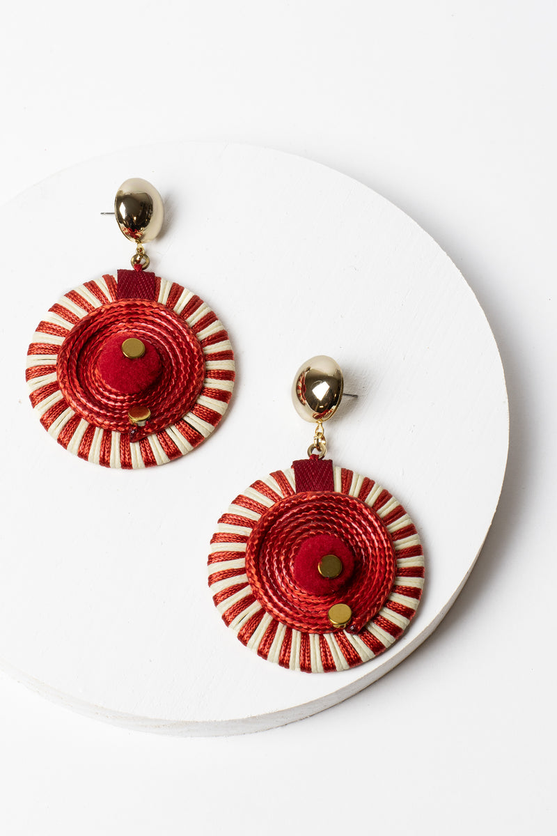 Zenzii Pinwheel Drop Earrings