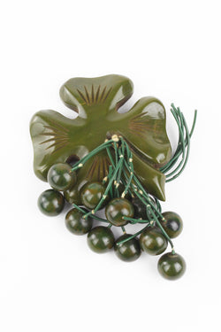 Bakelite Estate - Lucky Day 4 Leaf Clover Dangle Pin