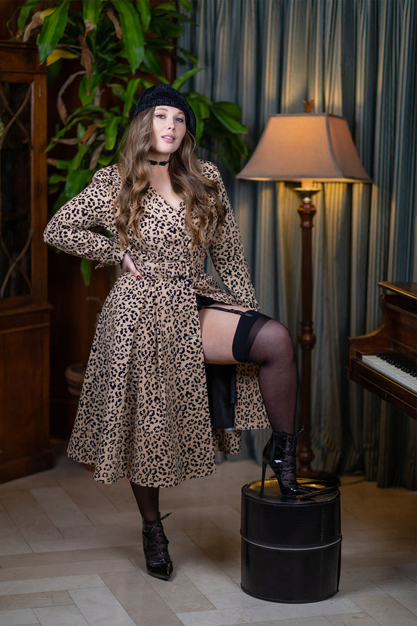 L'Agent Coat Dress - Caramel Cat