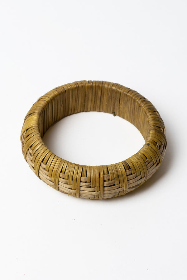 Cross Woven Bamboo Bangle