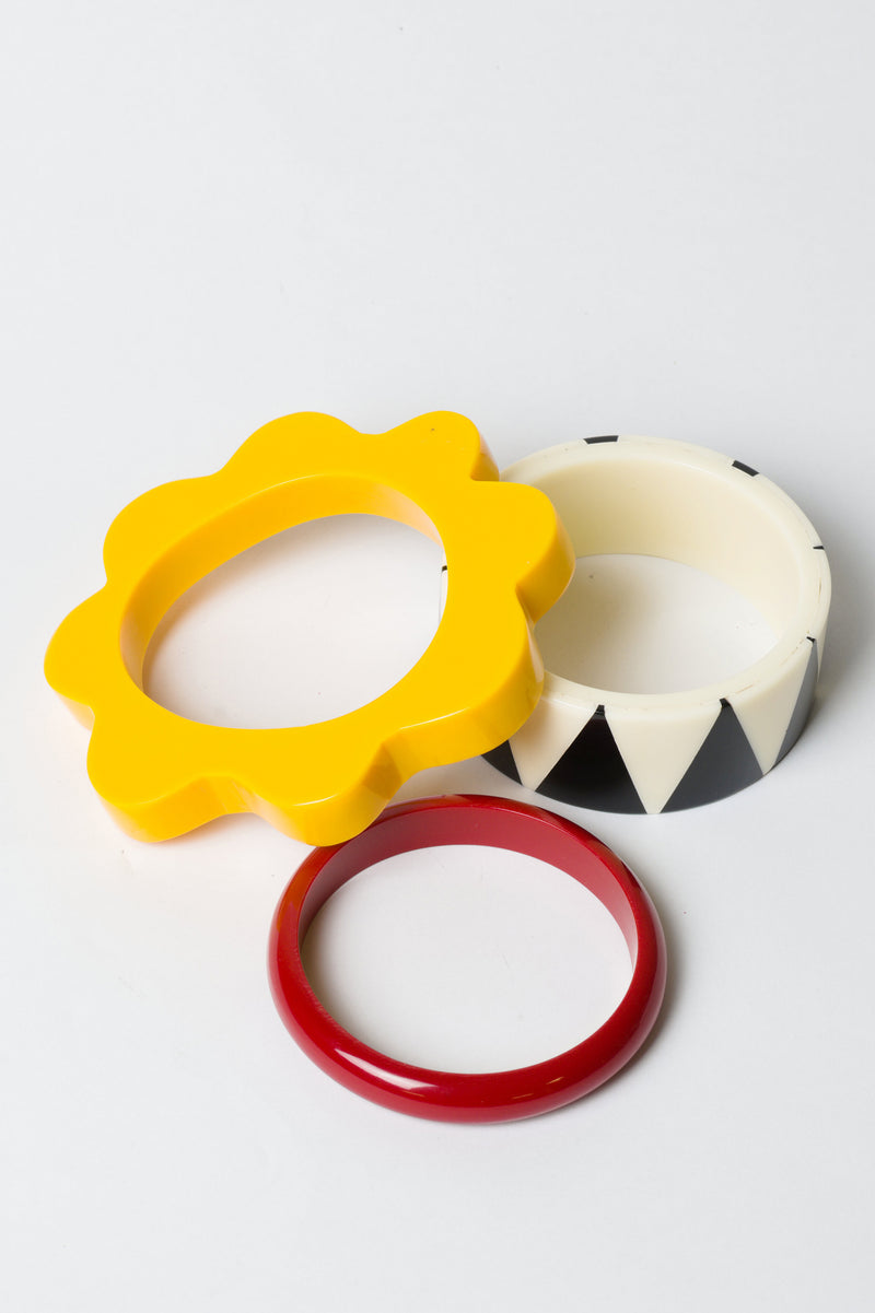 Geometric Primary Bangle Stack