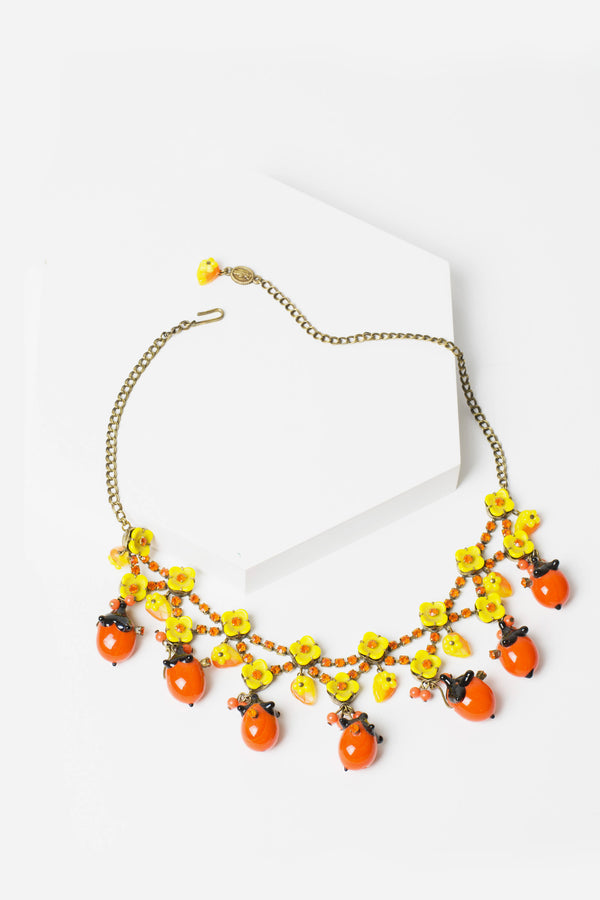 De Luxe Orange Drop Necklace