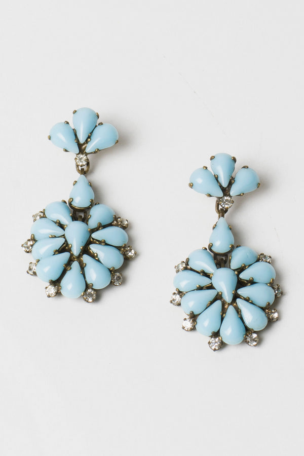 De Luxe Teardrop Floral Earrings