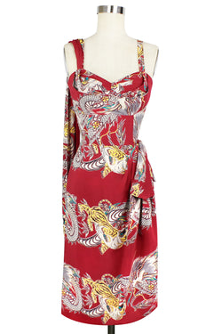 Lena Sarong Dress - Dragons & Tigers