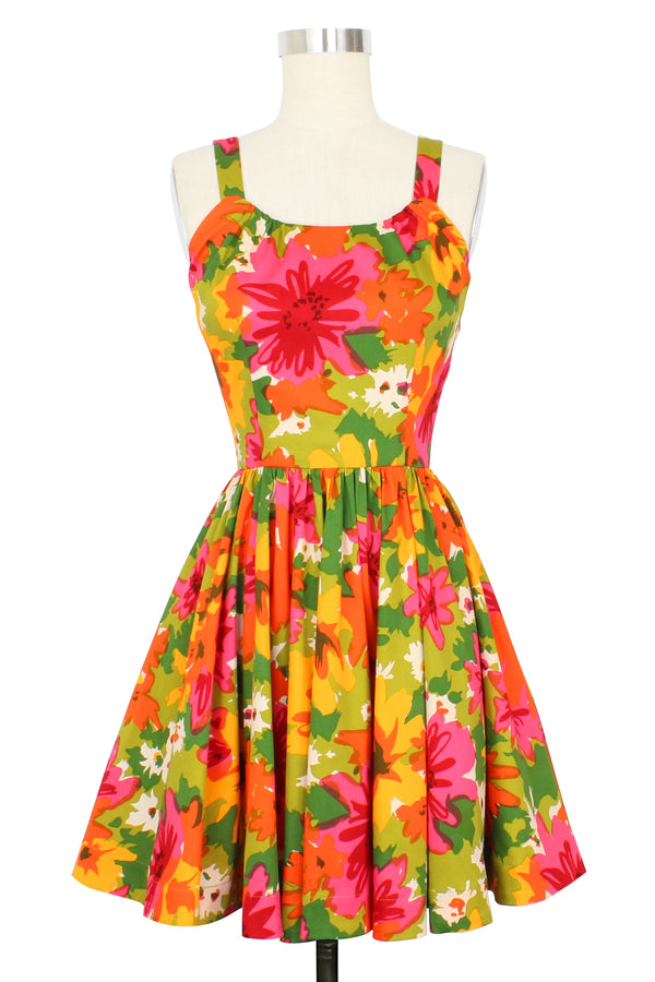 Annette Mini Dress - DayGlow Floral - Pre Order