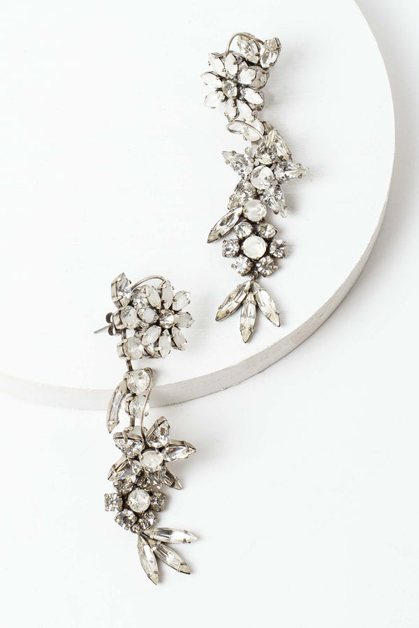 De Luxe Floral Dangle Earrings