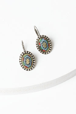 De Luxe Folk Floral Earrings