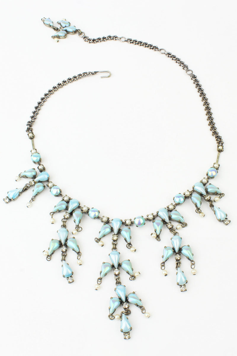 De Luxe Frozen Pastel Blue Drops Necklace