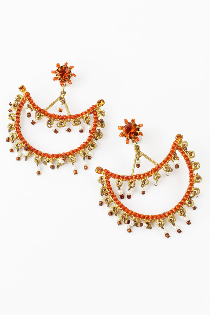De Luxe Grand Scalloped Earrings