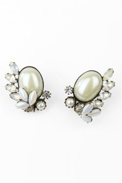 De Luxe Pearl Spray Earrings