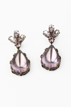 De Luxe Lavender Teardrop Earrings