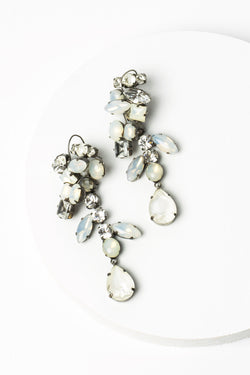 De Luxe Cluster Drop Earrings