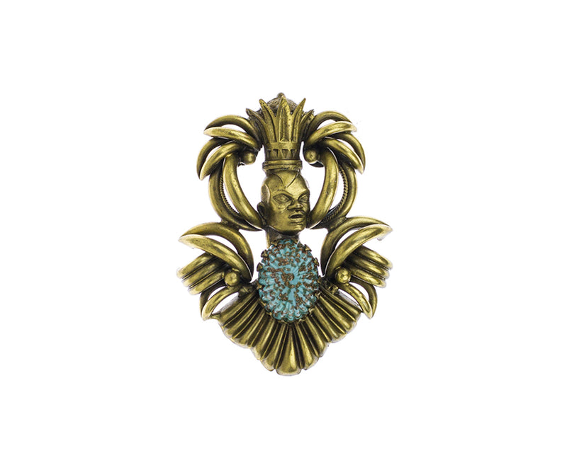 De Luxe Crowned King Brooch