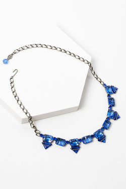 De Luxe Deco Daggers Crystal Necklace