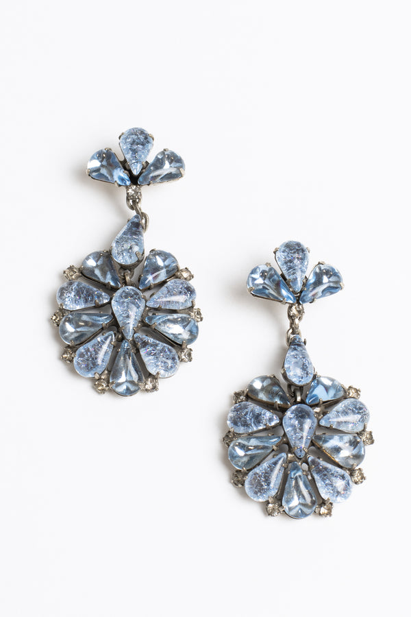 De Luxe Floral Cluster Earrings