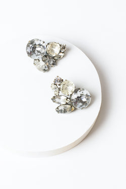 De Luxe Gem Cluster Earrings
