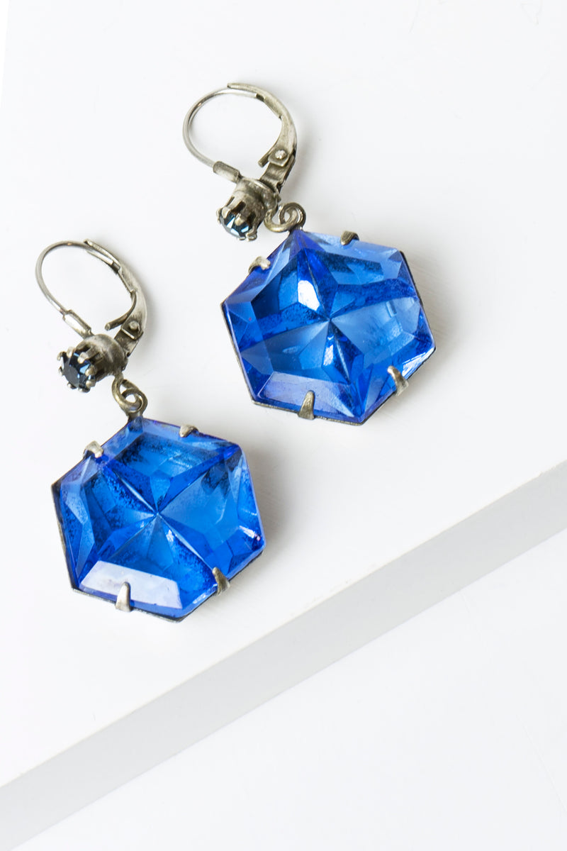De Luxe Hexagon Earrings
