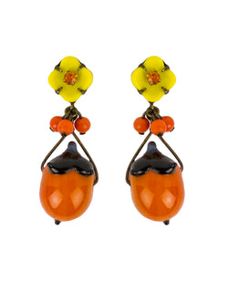 De Luxe Orange Drop Earrings