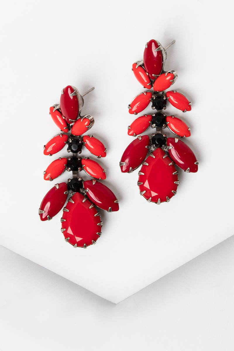 De Luxe Teardrop Fan Earrings