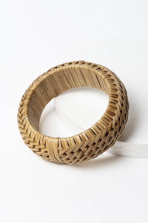 Diagonal Woven Bamboo Bangle