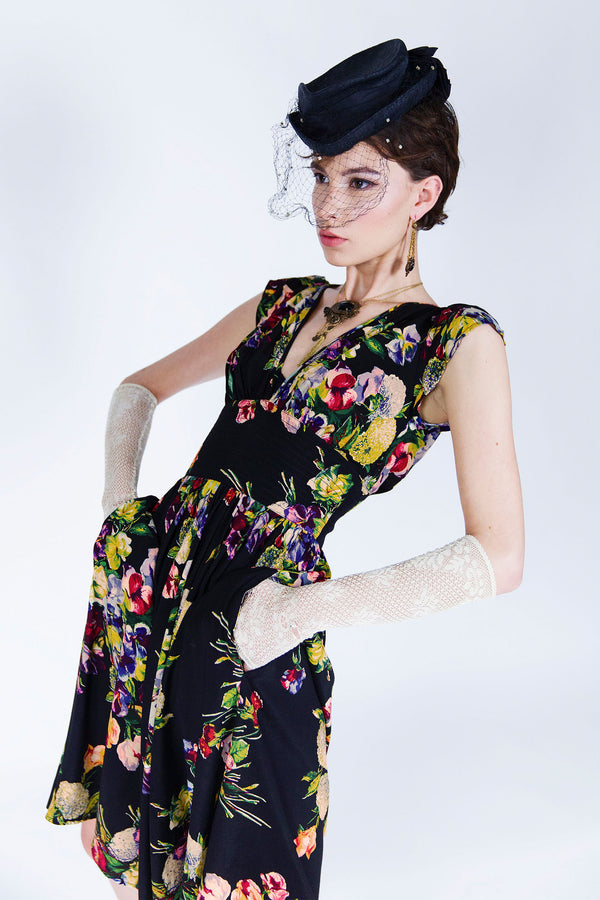 Marigold Petal Dress - Martini Floral