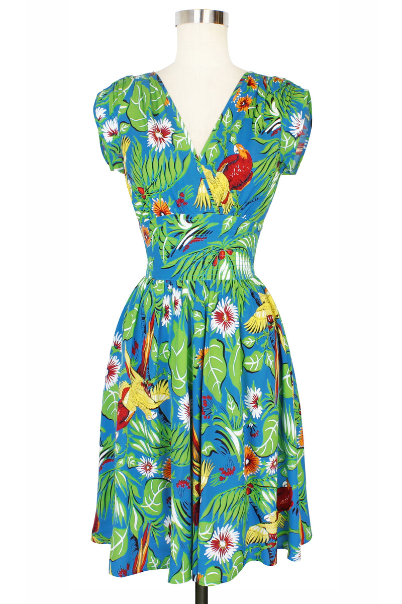 Sandra Dress - Jungle Parrots