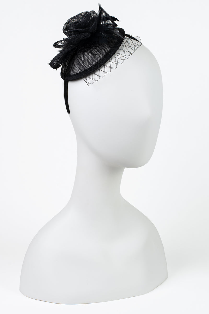 Sinamay Rose Fascinator