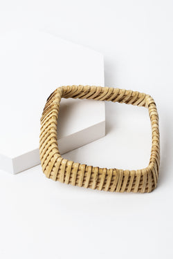 Flared Square Rattan Bangle