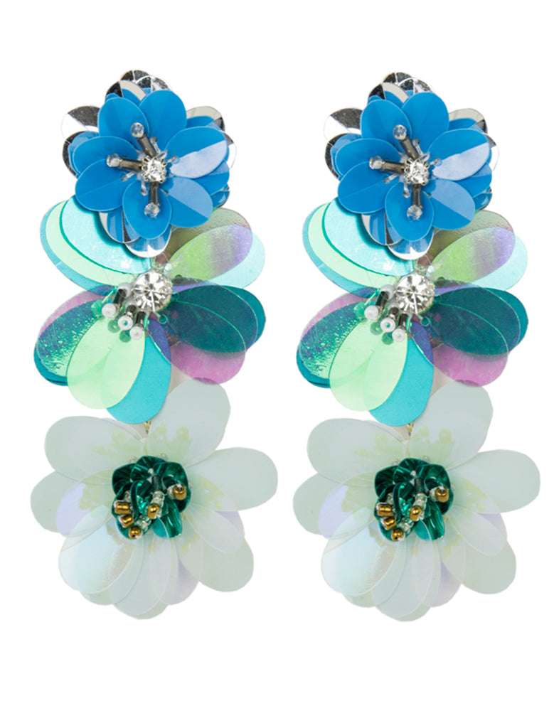 Flower Sequin Earrings
