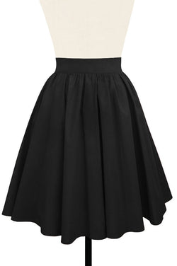 Gathered Mini Skirt - Stretch Cotton Satin