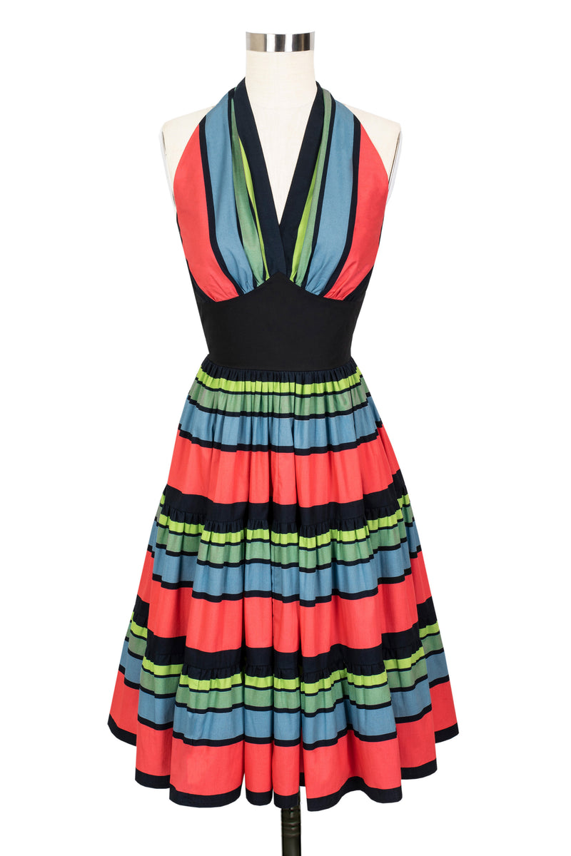 Dottie Stripe Dress - 50's Stripe