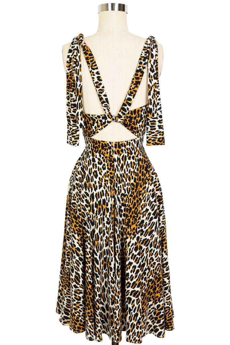 Helena Short Dress - 50's Leopard