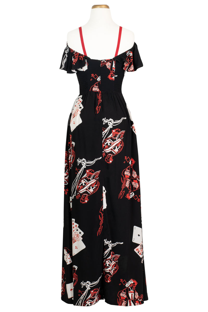 Hollywood Classic Long Dress - Queen of Hearts