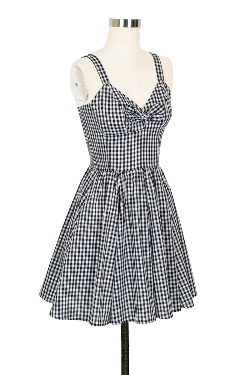 Hottie Mini Dress - Black Gingham