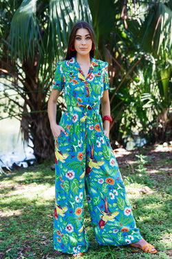 High Waist Pants - Jungle Parrots PRE ORDER