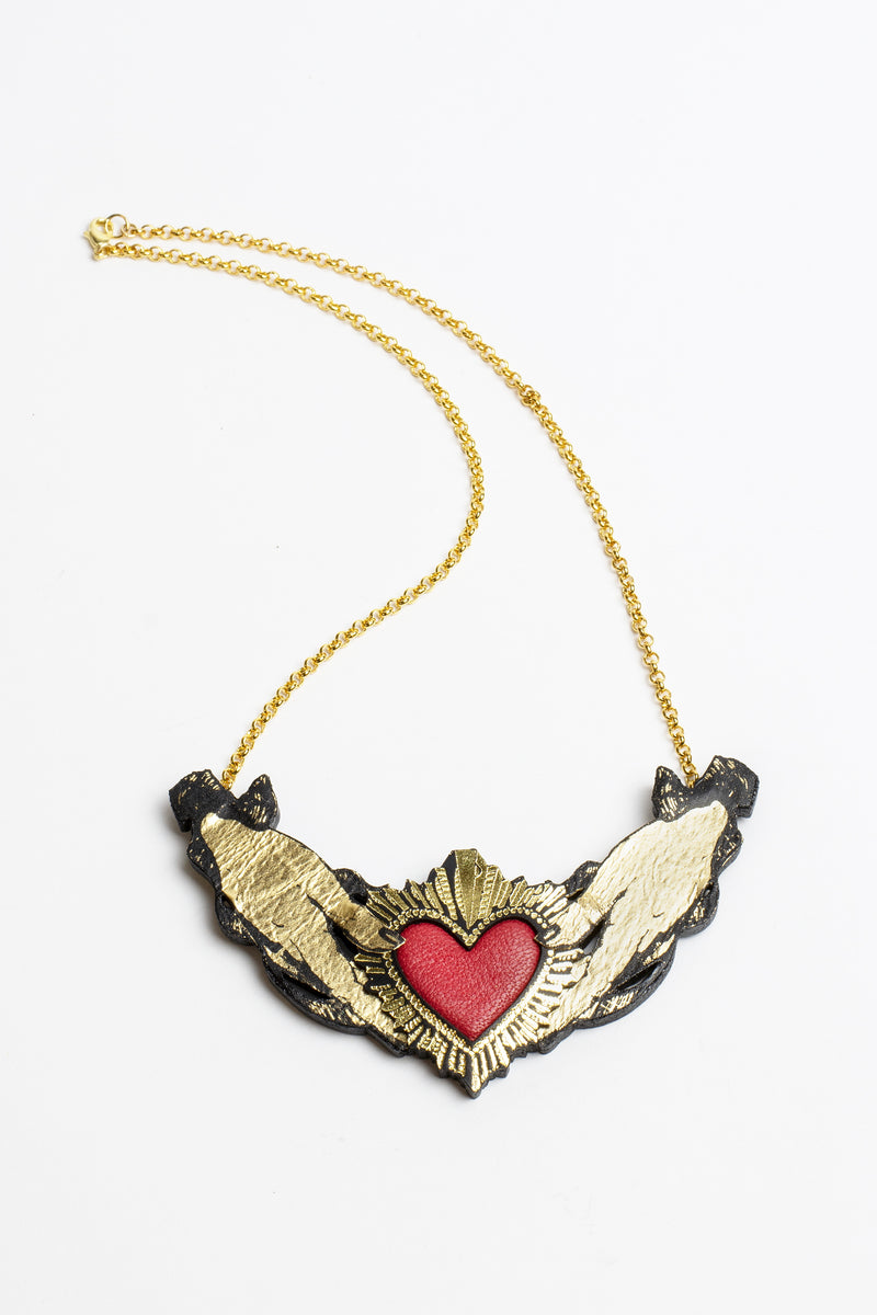 Rosita Bonita Heart in Hands Necklace