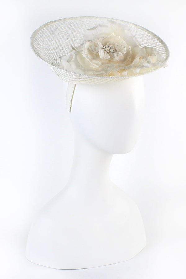 Kathy Jeanne Weave Fascinator with Large Flower