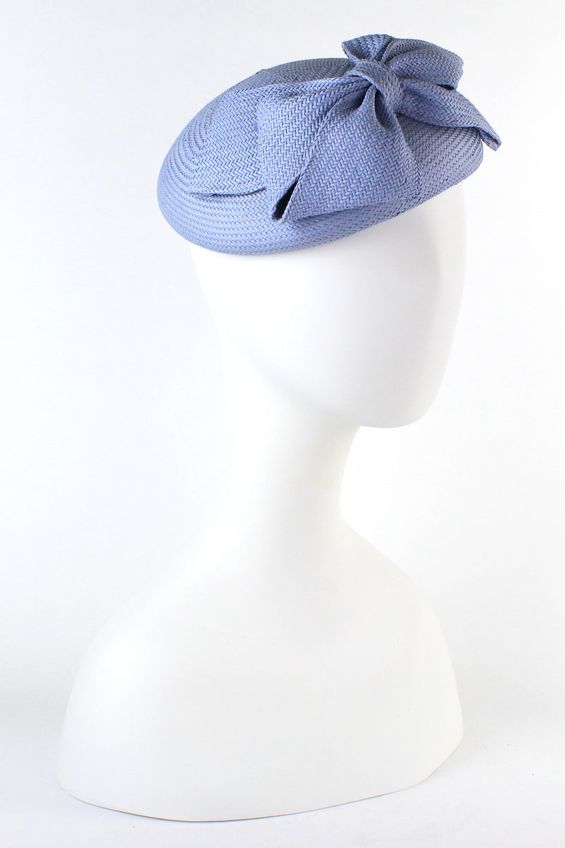 Kathy Jeanne Straw Large Bow Fascinator