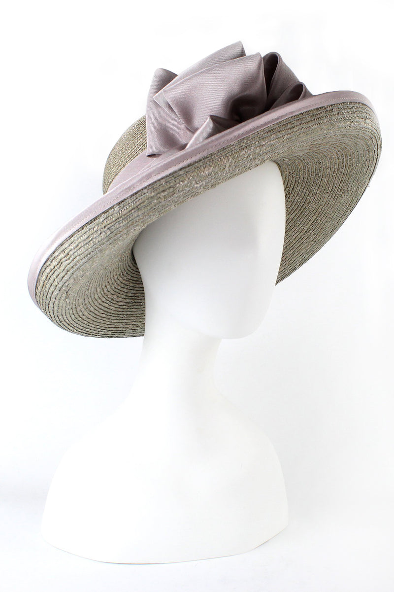 Kathy Jeanne Straw Hat with Ribbon Edge and Pearl Hat Pin