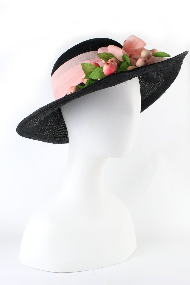 Kathy Jeanne Hat with Peach Spray