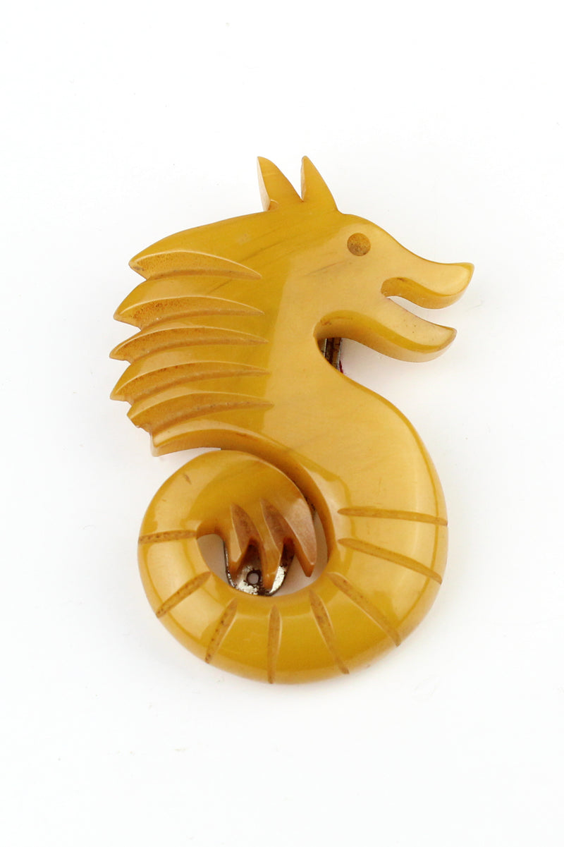 Bakelite Estate - Dragon or Seahorse Dress Clip