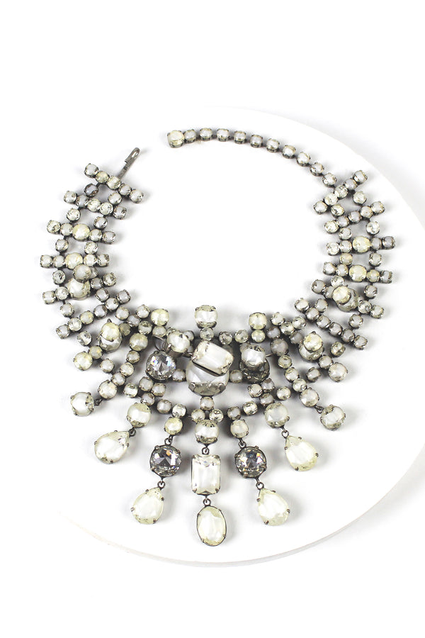De Luxe Hot Rocks Cluster Collar Necklace