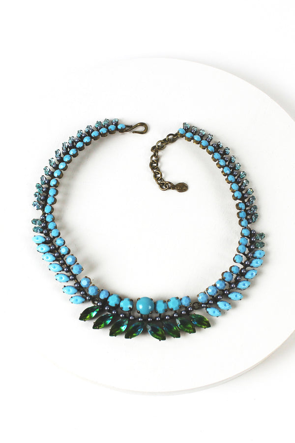 De Luxe Turquoise Leaf Necklace