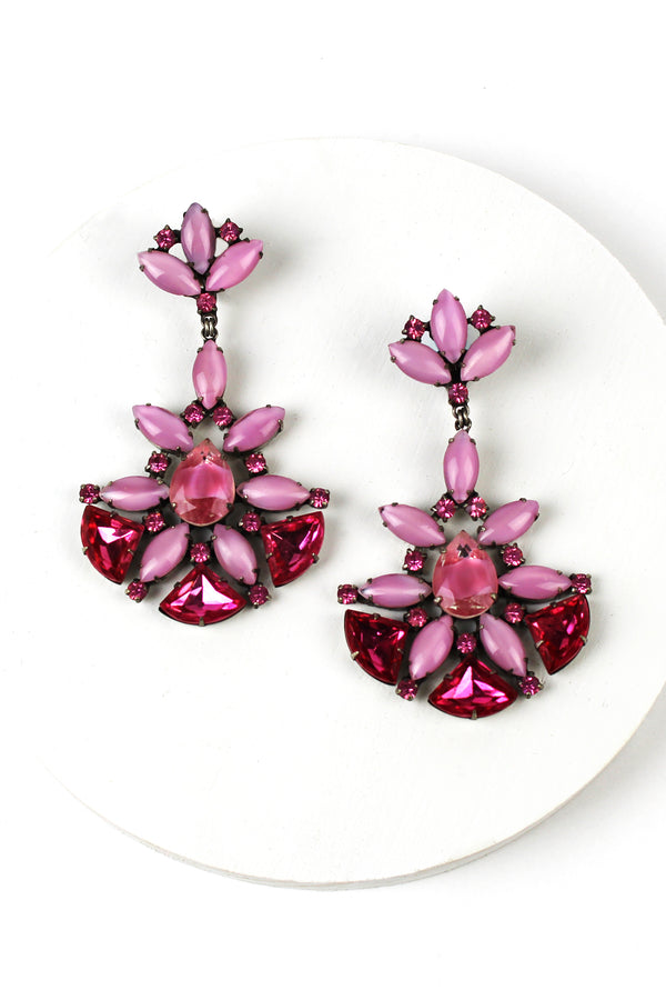 De Luxe Pink Bardot Earrings